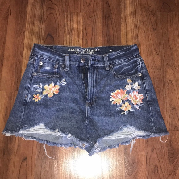 4d09b2e763 American Eagle Outfitters Shorts | American Eagle Floral Embroidered ...
